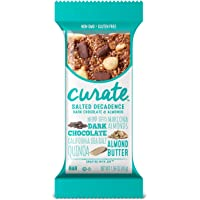 16 Count Curate Gluten-Free Salted 1.59 oz Decadence Dark Chocolate & Almonds Snack Bars