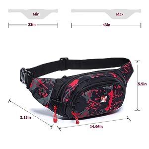 80d082b7d485 HAWXUNG Fanny Packs Waist Bag for Men and Women Waterproof Hip Bum ...