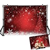 Allenjoy 7X5ft Winter Red and Christmas Tree Background for Photography Snowflake Bokeh Photo Backdrop Studio Props Christmas Party Decorations (Color: style08, Tamaño: 7ft by 5ft Vinyl)