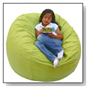Cozy 3-Feet Bean Bag Chair Medium Lime