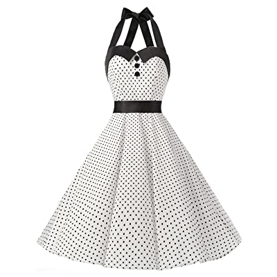 Dressystar Vintage Polka Dot Retro Cocktail Prom Dress 50s 60s Rockabilly Bandage