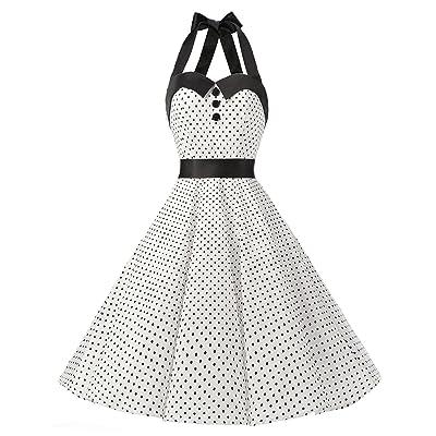 Dressystar Vintage Polka Dot Retro Cocktail Prom Dress 50s 60s Rockabilly Bandage