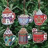 Janlynn Counted Cross Stitch Kit, Coca Mug Ornaments