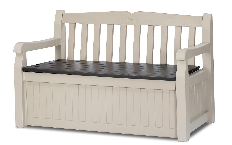 garden bench storage box deck pool seating lock outdoor. Black Bedroom Furniture Sets. Home Design Ideas
