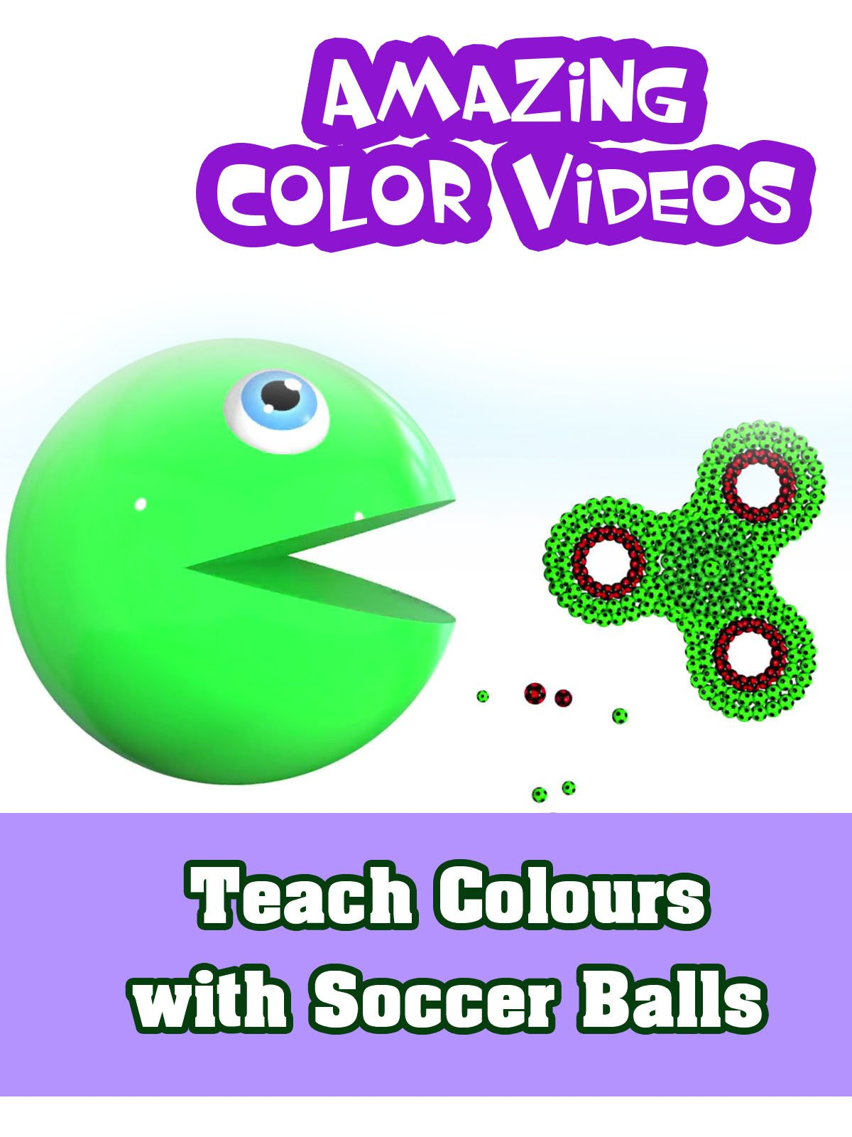 Teach Colours with Soccer Balls - Amazing Colors Videos