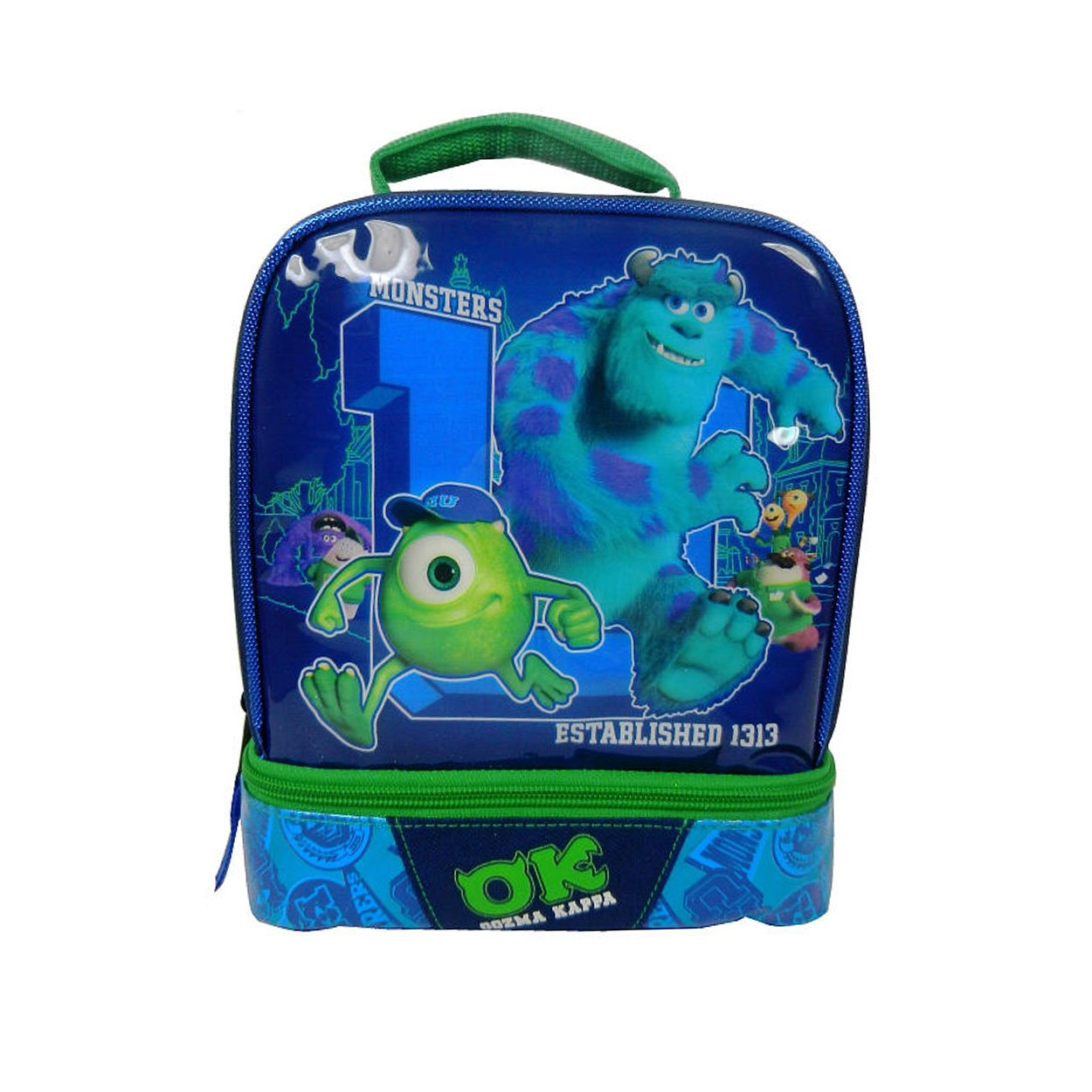 Monsters U OK Dual Compartment Kids Lunchbox