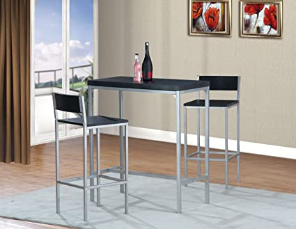 Henry High Bar and Table, Modern and Minimalist, Set of 3