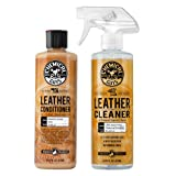 Chemical Guys Leather Cleaner and Conditioner Complete Leather Care Kit (16 oz) (2 Items) (Color: Mixed, Tamaño: 16 fl. Oz (2 Items))