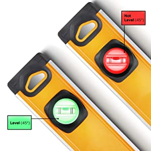 MOTORHEAD 24-Inch 0°, 45° & 90° Degree LED Torpedo Level, Water, Dust & Shock Resistant, Magnetic Bottom, Includes Bag, High-Visibility, Solid Milled Aluminum, USA-Based Support (Color: Smart LED Level, Tamaño: 24)