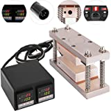VEVOR Heat Press Kit 3X7 Inch Double Digital Display Heat Press Plates Temperature Controller Box 600W Heat Cage Kit (Color: Champagne Double display, Tamaño: 3X7 Inch)