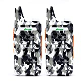 2 Way Radio Walkie Talkies Long Range for Outdoor Camping Hiking Hunting Activities LT-316 Military Camo Mini Uhf Rechargeable Two-Way Radio 5-10 Miles Back to School Ideal Gifts by LUITON (2 Pack) (Color: LT-316 camo)