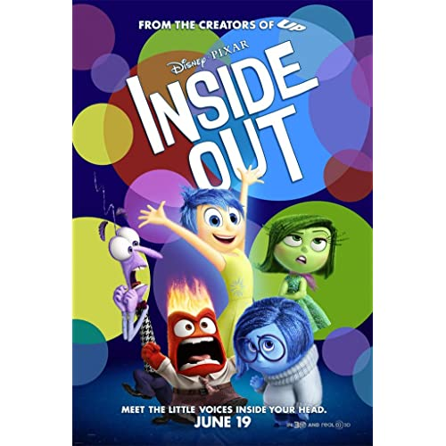 INSIDE OUT MOVIE POSTER 2 Sided ORIGINAL FINAL 27x40 DISNEY