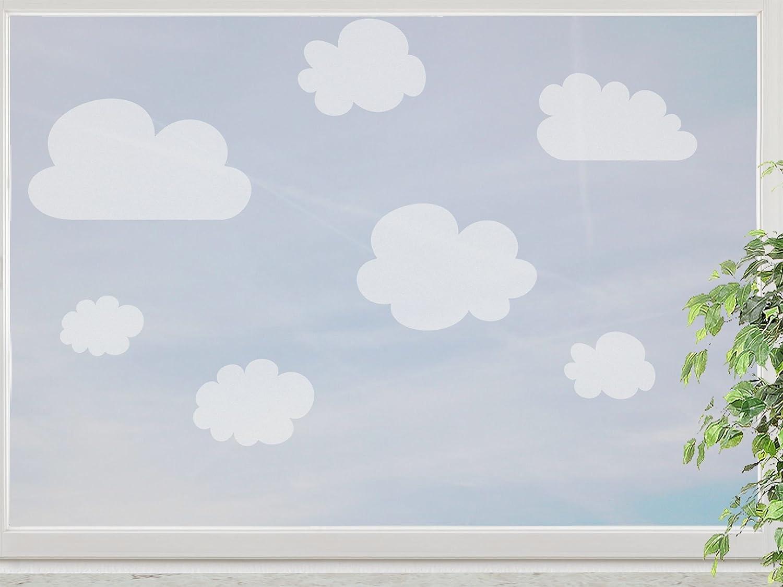 wandfabrik – Fenstersticker Wolken 12 Stück – frosty – 798 – (Xt) günstig online kaufen
