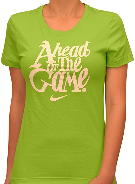 NIKE Women's Ahead of the Game Casual Shirt-Green