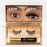 KEMBI Magnetic Eyeliner with Lashes - Natural Look Magnielash Kit - Vegan, Cruelty-Free Lash Liner & Reusable Eyelashes, No Glue & Mess Free, Fast & Easy to Apply Magnetic Liner and Eyelashes