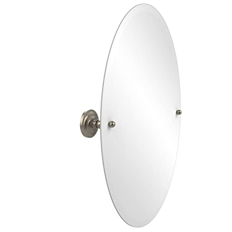 Allied Brass PQN-91-PEW  21-Inch X 26-Inch Oval Tilt Mirror, Antique Pewter