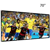 Leegoal 70 Inch Projection Screen 16:9 HD Foldable Anti-crease Portable Projector Movies Screen for Home Indoor Outdoor