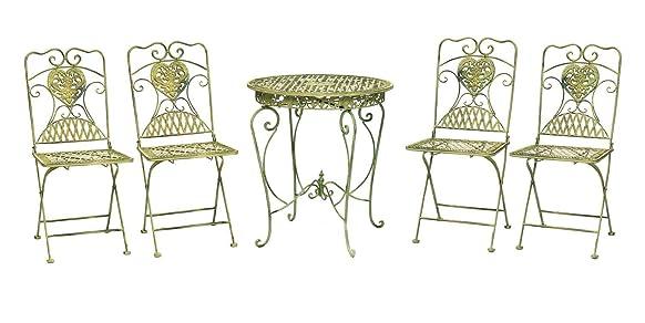 Tavolo da giardino e 4 sedie ferro antico mobili da giardino in stile in ferro
