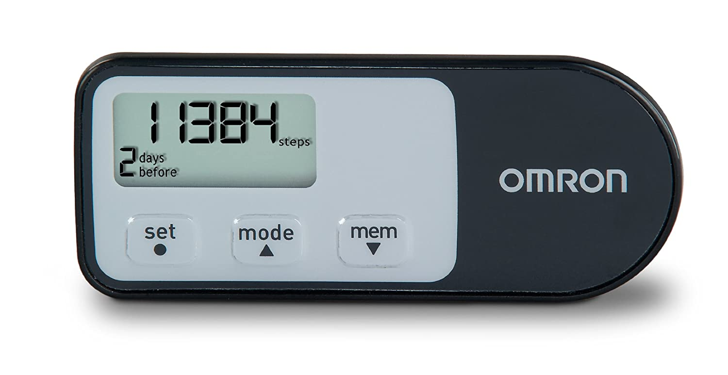 Omron HJ-321 Tri-Axis Pedometer, Black $13.49