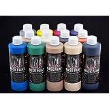 The Monster Makers Latex Mask Paint 13 Color Kit (8oz Bottles) (Color: Brown)