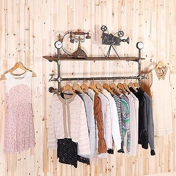 FGSGJ Appendiabiti a parete, con ripiano a muro per riporre vestiti, asciugamani, cappelli, sciarpe, ripiani