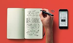 Moleskine smart writing set notebook with smart pen (PTSETA) (Tamaño: Large (13 x 21 cm))