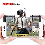 Mobile Game Controller[Upgrade Version], Yobenki Sensitive Shoot and Aim Keys L1R1 Controller for PUBG/Knives Out/Rules of Survival, Mobile Gaming Joysticks for Android IOS(1 Pair) (Gen 4 Black) (Color: Gen 4 Black)