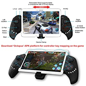 Wireless Android Game Controller for PUBG Fotnite, Megadream Gamepad