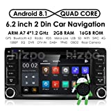 Quad Core Android 8.1 2 Din in Dash HD 1024600 Capacitive Touch Screen Car DVD Player GPS Navigation AM FM Radio Toyota RAV4 Corolla Camry Tundra 4Runner Previa Highlander Yaris Prado Hilux