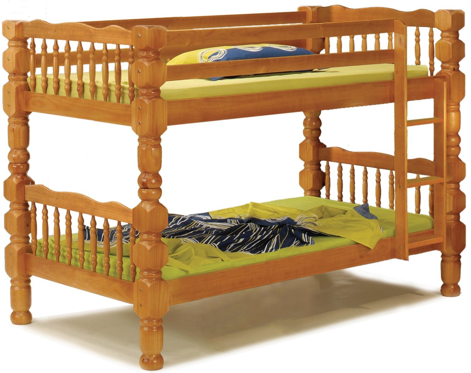 100 Solid Wood Dakota Twin Twin Bunk Bed 61 Hx44 Wx82 5 L
