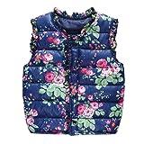 Shouhengda Baby Girls Winter Warm Vest Outwear Coat Kids Padded Waistcoat 5-6Y