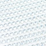 Finov 1500 Pieces of 5mm Self Adhesive Rhinestone Strips Round Stick on Gems (Clear) (Color: Clear, Tamaño: 0.5mm)