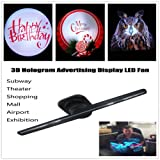 Makaor 3D Hologram Advertising Display 3D Holographic Imaging Naked Eye LED Fan (Machine size: 420mmx130xmm110mm, Black) (Color: Black, Tamaño: Machine size: 420mmx130xmm110mm)