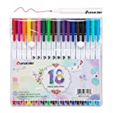 Fineliner Colored Pens Set by Sunacme, 0.38 mm Porous Fine Point Markers, Fine Line Drawing Pen Perfect for Adults Coloring Books and Bullet Journal Art Projects, Pack of 18 (Color: 18 colors)