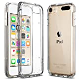 ULAK Soft TPU Bumper PC Back Hybrid Case for iPod Touch 6/iPod Touch 5 - Retail Packaging - Clear Slim (Color: Clear)