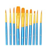 Paint Brushes, StarVast 10pcs Paint Brush Set for Watercolor/Oil/Acrylic/Crafts/Rock & Face Painting