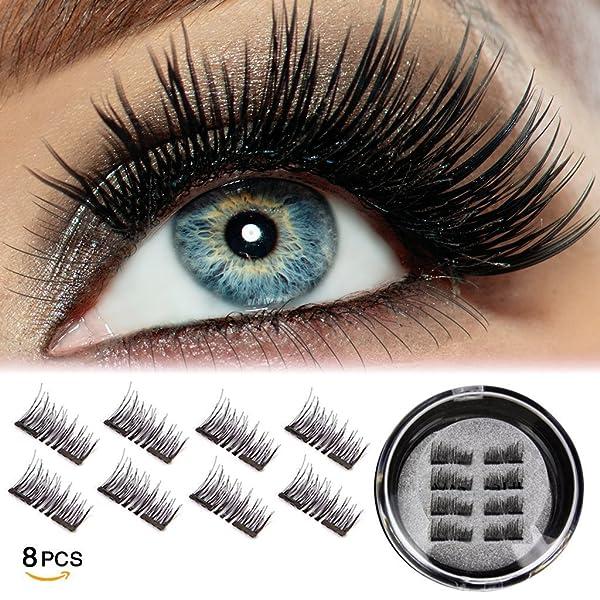 c2af0547e04 Half Eye Magnetic Eyelashes Ultra Thin No Glue Reusable Magnet Eyelases  False Fake Eye Lashes Natural ...