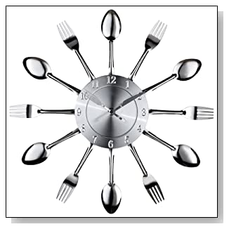 Fork and Spoon Dining Wall Clock