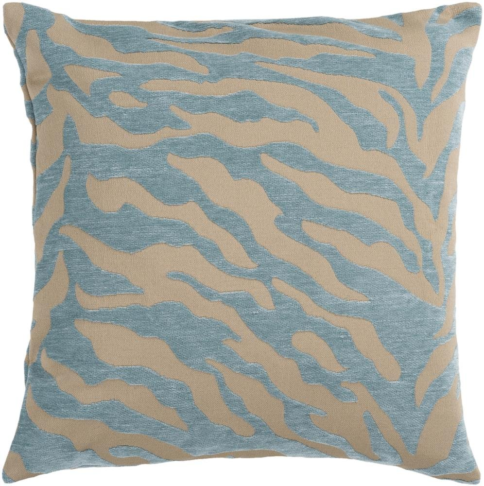 Surya JS-030 Contemporary Hand Crafted 100% Poly Teal 22 x 22 Animal Decorative Pillow
