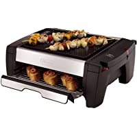 DeLonghi BQ100 Indoor Grill with Smokeless Broiler Drawer