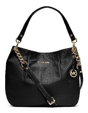 Michael Kors Bedford Black Leather Shoulder Tote Bag 48