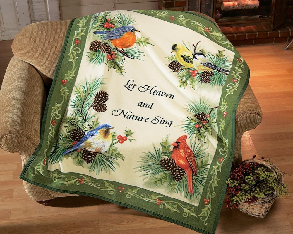 Natures Songbirds Fleece Throw Blanket