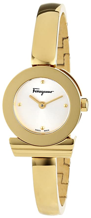 Salvatore Ferragamo Gancino Gold Ion-Plated Women's Watch