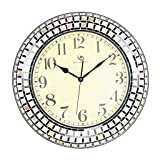 Modern minimalist living room wall clock Seashell mosaic craft wall clock - Mediterranean home decorative wall clock