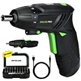 Cordless Screwdriver, GALAX PRO 3.6V Electric Screwdriver, 2000mAh Li-ion Battery with Battery Indicator with 4N.m Max. Torque and 31PCS Free Accessories for Home DIY