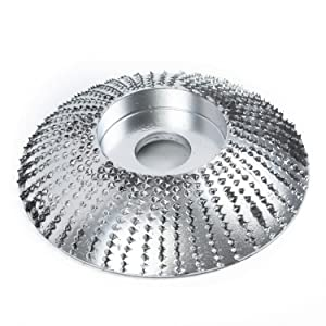 Woodworking Wood Angle Grinding Wheel Sanding Carving Rotary Shaping Disc For Angle Grinder Grinding Wheel Woodworking Angle Grinder Attachment (Color: Silver)