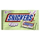 SNICKERS Easter Singles Size Chocolate Candy Bar Eggs 1.1-Ounce Bar 6-Count Pack