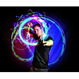 EmazingLights 4-LED Spinning Orbit: Orbite-X3 - Lightshow Orbital Rave Light Toy (Clear Casing)    (Color: Clear, Tamaño: One Size)