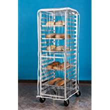 "Aleco 477414 PVC Economy One-Zip Pan Rack Cover, 64"" Length x 23"" Width x 28"" Height, Clear"