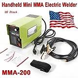 Arc Welder, MMA-200 Welding Machine Handheld Mini Welder 120AMP 4.7KVA Handheld Electric ARC Welding Machine Solder Inverter 110V for Novice Welders Fits 3.2mm Weling Rods Electric Welders Accessories